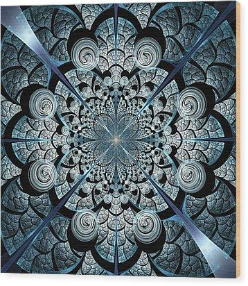 Blue Gates Wood Print by Anastasiya Malakhova