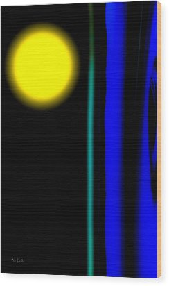 Blue Glass Wood Print by Bob Orsillo