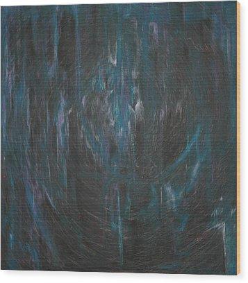 Blue Glass Wood Print by Wayne Carlisi