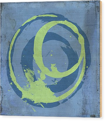 Blue Green 7 Wood Print by Julie Niemela