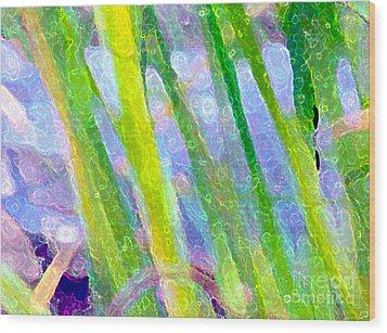 Blue Green Fantasy Wood Print by Sylvie Moncion