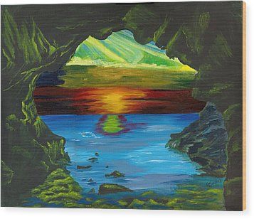 Blue Grotto Wood Print by Beverly Marshall