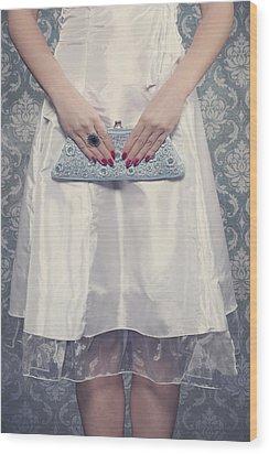 Blue Handbag Wood Print by Joana Kruse