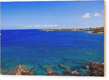 Wood Print featuring the photograph Blue Hawaiii by Athala Carole Bruckner