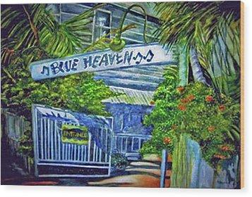 Blue Heaven Key West Wood Print