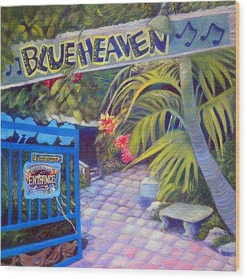 Blue Heaven New View Wood Print