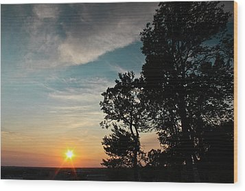Blue Heaven Sunset Wood Print by Julie Andel