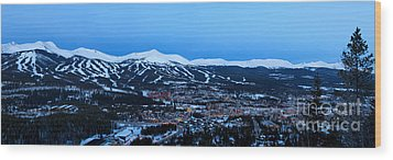 Blue Hour In Breckenridge Wood Print by Ronda Kimbrow