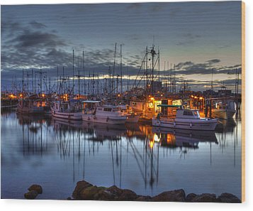 Blue Hour Wood Print by Randy Hall
