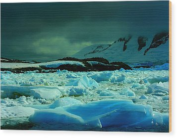 Wood Print featuring the photograph Blue Ice Flow by Amanda Stadther