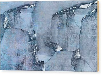 Blue Ice Wood Print by Jack Zulli