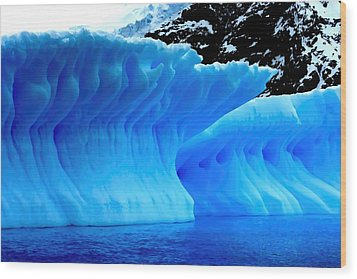 Wood Print featuring the photograph Blue Iceberg by Amanda Stadther