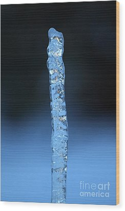 Blue Icicle Wood Print by James Eddy