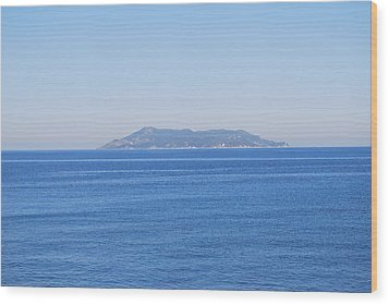 Wood Print featuring the photograph Blue Ionian Sea by George Katechis
