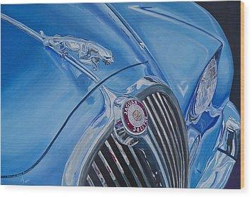 Vintage Blue Jag Wood Print