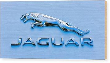Blue Jaguar Wood Print by Ronda Broatch