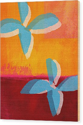 Blue Jasmine Wood Print by Linda Woods