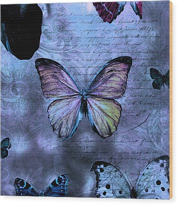 Blue Jean Baby Wood Print by Evie Carrier