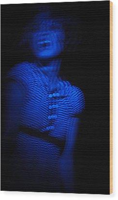 Blue Wood Print by Joel Loftus
