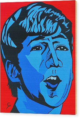 Blue  John Lennon Wood Print