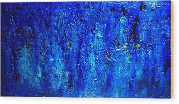 Blue Lagoon 9 Wood Print by Henry Parsinia