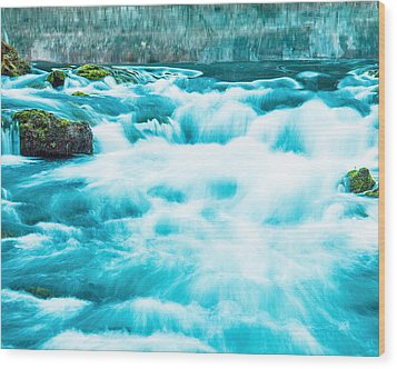 Wood Print featuring the photograph Blue Lagoon by Steven Bateson