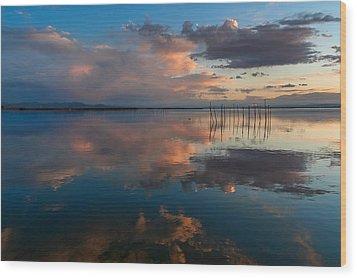 Blue Lagoon. Valencia Wood Print