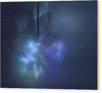 Blue Light Wood Print by Nafets Nuarb