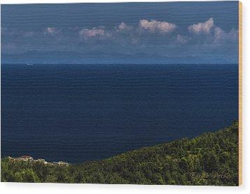 Blue Liguria Wood Print