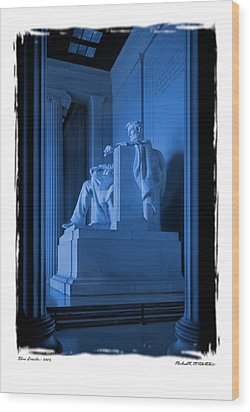 Blue Lincoln Wood Print by Mike McGlothlen