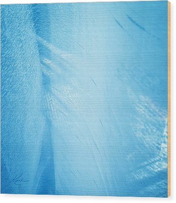 Blue Linen Sunshine Wood Print