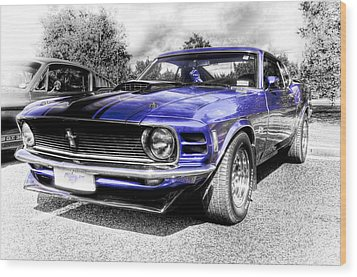 Blue Mach 1 Wood Print by motography aka Phil Clark