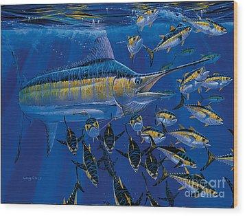 Blue Millennium Wood Print by Carey Chen