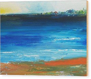 Blue Mist Over Nantucket Island Wood Print