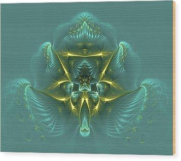 Blue Mist Wood Print