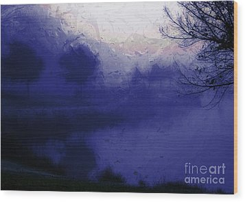 Wood Print featuring the photograph Blue Misty Reflection by Julie Lueders