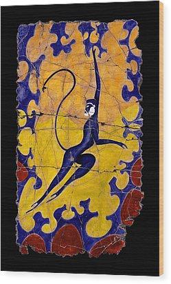 Blue Monkey No. 13 Wood Print by Steve Bogdanoff