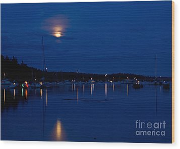Blue Moon Wood Print by Chuck Flewelling