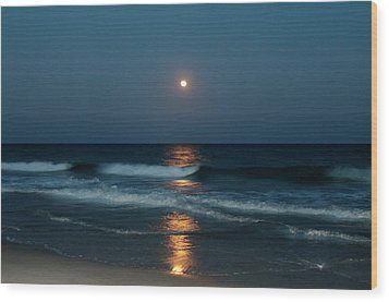 Blue Moon Wood Print by Cynthia Guinn