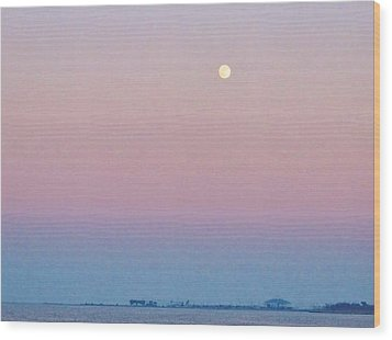 Blue Moon  Wood Print by Deborah Lacoste