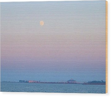 Blue Moon Eve Wood Print by Deborah Lacoste