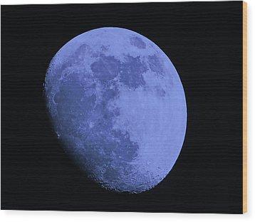 Blue Moon Wood Print by Tom Gari Gallery-Three-Photography