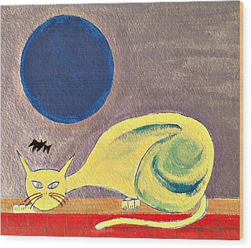 Blue Moon Wood Print by Lew Griffin