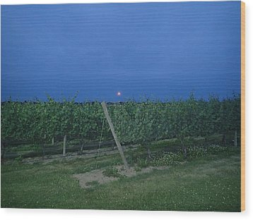 Wood Print featuring the photograph Blue Moon by Robert Nickologianis