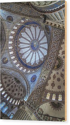 Blue Mosque Wood Print by Ross Henton
