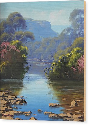 Blue Mountains River Wood Print by Graham Gercken
