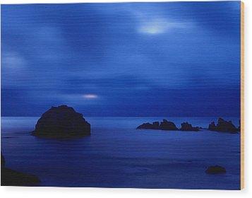 Blue Mystique Wood Print by Ken Dietz
