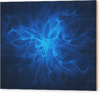 Blue Nebula Wood Print