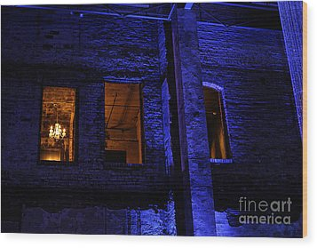 Blue Night Wood Print by Kate Purdy