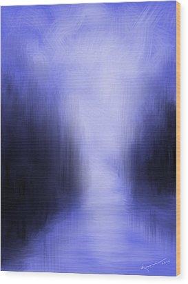 Blue Night Wood Print by Kume Bryant